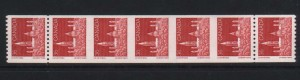 Canada #953a VF/NH Imperf Strip Of Five & Two Normal