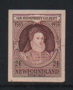 Newfoundland #224DP XF Mint Small Die Proof In Color Of Issue