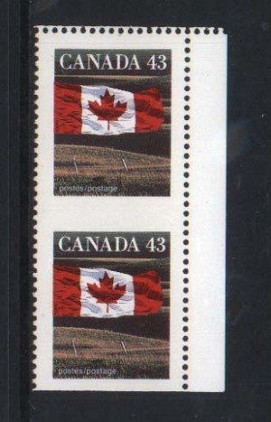 Canada #1359cf XF/NH Imperf Pair