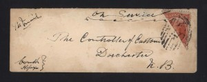 Nova Scotia #12b Used On Bisect Cover **With Cert.**