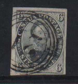 Canada #5 VF Used With 4 Ring 21 Cancel  **With Certificate**
