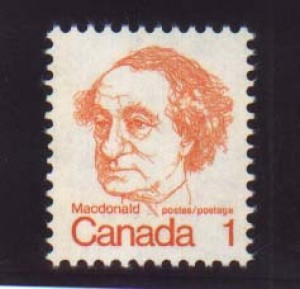 Canada #586d XF/NH Printed On Gum Side Variety **With Cert.**