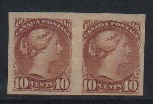 Canada #45c VF Mint Imperforate Pair  **With Cert.**