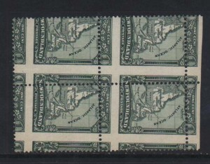 Newfoundland #145 VF Mint Amazing Perf Error Block  **With Cert.**