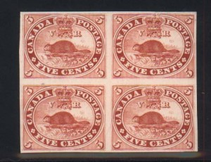 Canada #15TCii XF Proof Block India On Card