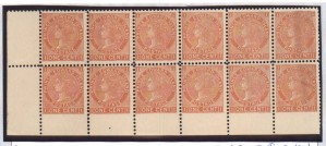 Prince Edward Island #11v VF/NH Bottom Row Imperf Block Of 12