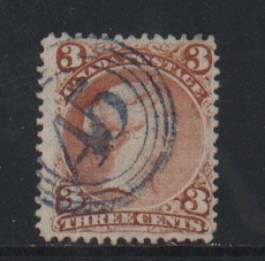 Canada #33 VF Used With Superb 4 Ring 45 Cancel **With Certificate**