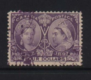 Canada #64 VF Used With Light Magenta Cancel *With Cert.*