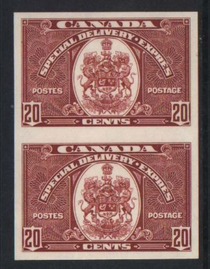 Canada #E8a XF/NH Imperf Pair **With Certificate**