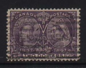 Canada #62 XF Used With Light Roller Cancel  **With Cert.**
