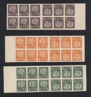Canada #149c #150c #153c XF/NH Tete Beche Booklet Pane Set