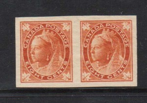 Canada #72a XF/NH Imperforate Pair  **With Certificate**