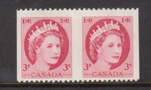 Canada #339a VF/NH Imperf Pair  **With Certificate**