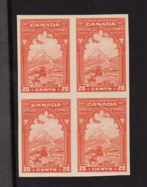 Canada #E3a XF/NH Imperforate Block