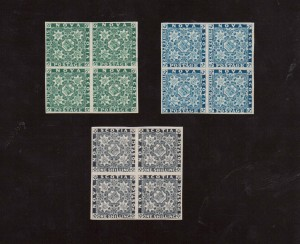 Nova Scotia #2RP #5RP #7RP XF Mint Proof Reprint Blocks