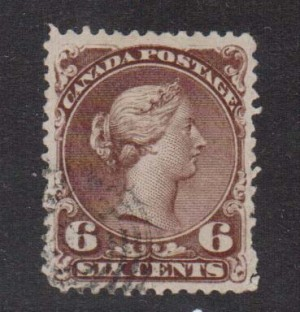 Canada #27iii,vi VF Used On Bothwell Paper **With Certificate**