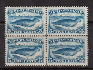 Newfoundland #55 XF/NH Block Of Four  **With Cert.**