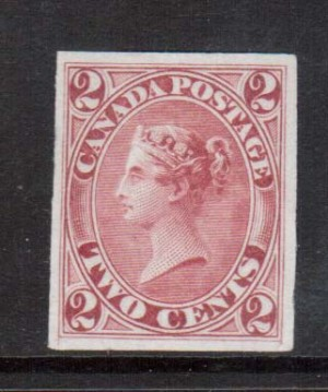 Canada #20TCi XF Plate Proof On India Paper