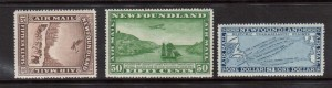 Newfoundland #C9 - #C11 XF/NH Watermarked Set