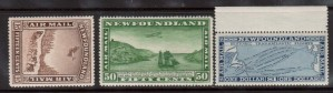 Newfoundland #C6 - #C8 XF/NH Set