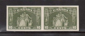 Canada #209a XF/NH Imperf Pair