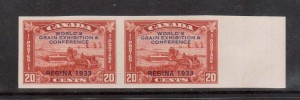 Canada #203a XF/NH Imperf Pair