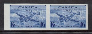 Canada #CE1a XF/NH Imperforate Pair **With Certificate**