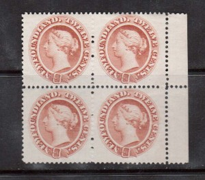 Newfoundland #28 XF/NH Block **With Certificate**