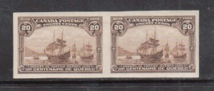 Canada #103a XF Mint Imperforate Pair **With Certificate**