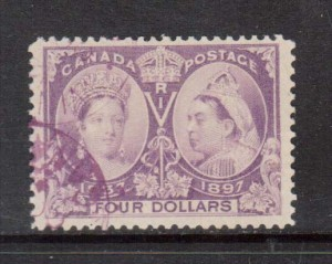 Canada #64 VF Used With Purple Magenta Cancel **With Certificate**