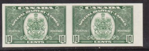 Canada #E7a XF/NH Imperforate Pair  **With Certificate**