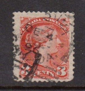 Canada #37vi VF Used **With Certificate**