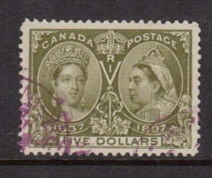 Canada #65 XF With Purple CDS Cancel **With Cert.**