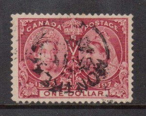 Canada #61 VF Used With Montreal CDS Cancel **With Certificate**