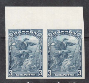 Canada #208a XF/NH Imperforate Pair **With Certificate**
