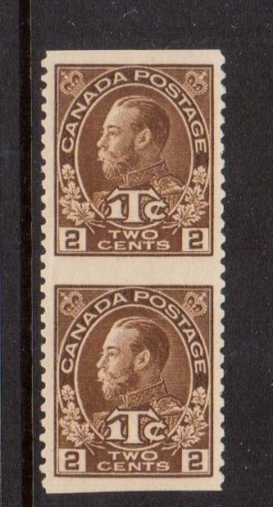 Canada #MR4iv XF Mint Imperf Between Pair **With Cert.*