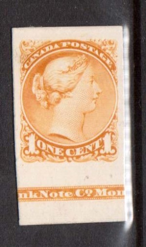 Canada #35P XF Plate Proof With Imprint India On Card