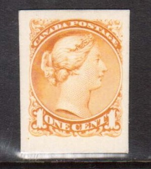 Canada #35P XF Plate Proof In Issued Color On Card