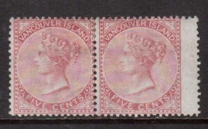 British Columbia #5 VF Mint Pair **With Certificate**
