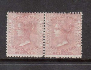 British Columbia #2 Mint Scarce Pair **With Certificate**