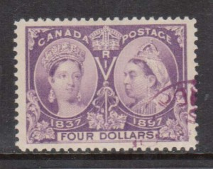 Canada #64 Used Superb Gem **With Certificate**