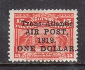 Newfoundland #C2 VF/NH **With Certificate**
