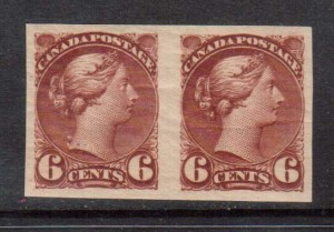 Canada #43b XF/NH Imperf Pair **With Certificate**