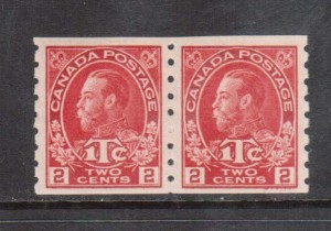 Canada #MR6 VF/NH Coil Pair **With Certificate**