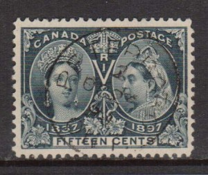 Canada #58 VF Used With Ideal Peterboro CDS Cancel **With Cert.**
