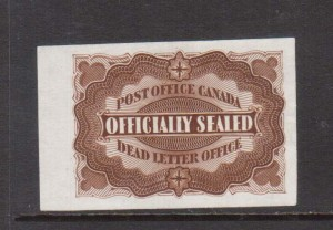 Canada #OX1P XF Gem Plate Proof On India Paper **With Certificate**