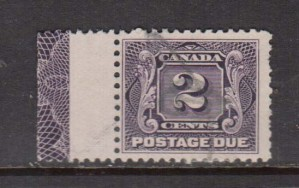Canada #J2 Used Lathework D Single **With Certificate**