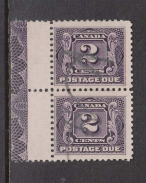 Canada #J2 Lathework D In Used Pair **With Certificate**