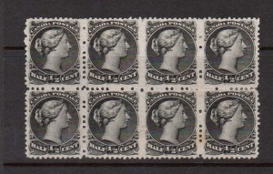 Canada #21c VF Mint Block Of Eight **With Certificate**