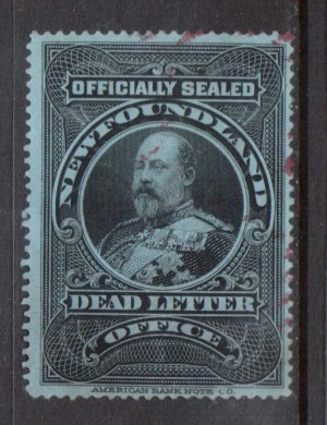 Newfoundland #OX1i VF Used **With Certificate**